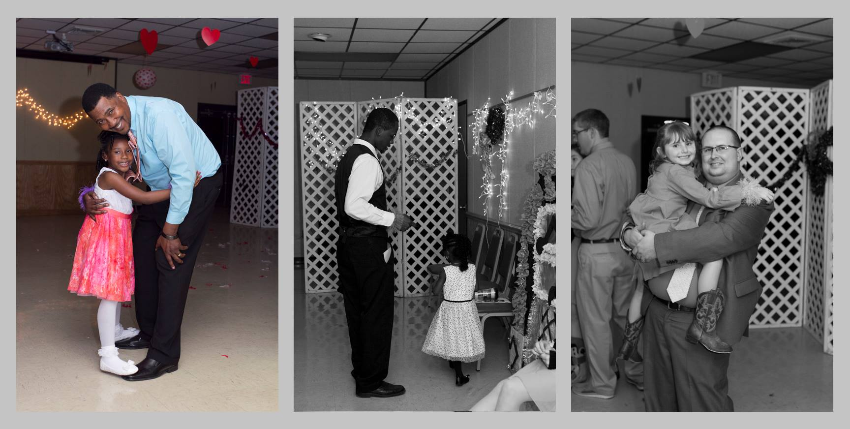 fathers and daughters at the dance