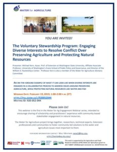 Cover photo for Water for Agriculture Project Webinar