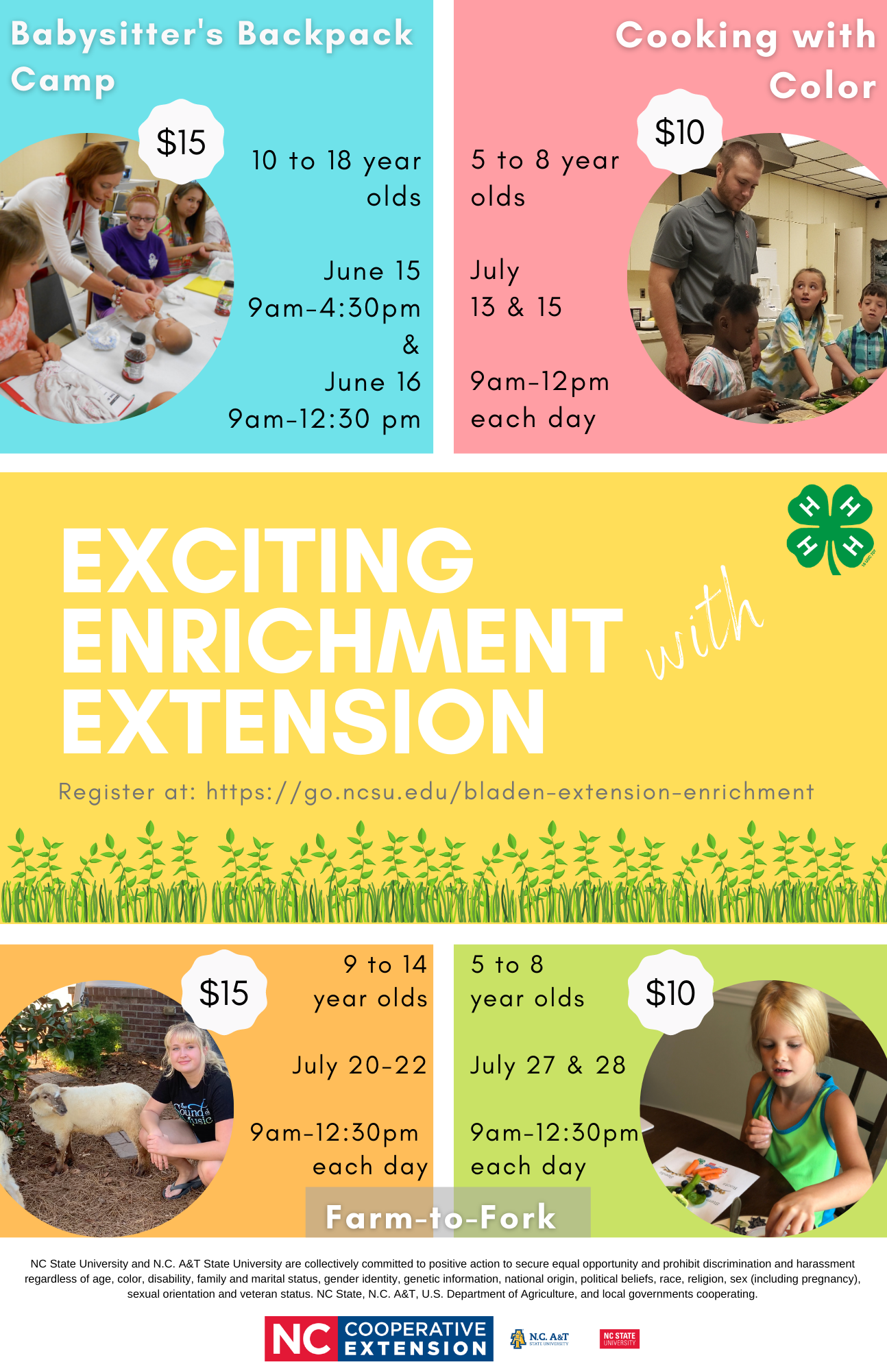 Exciting Enrichment with Extension flyer image